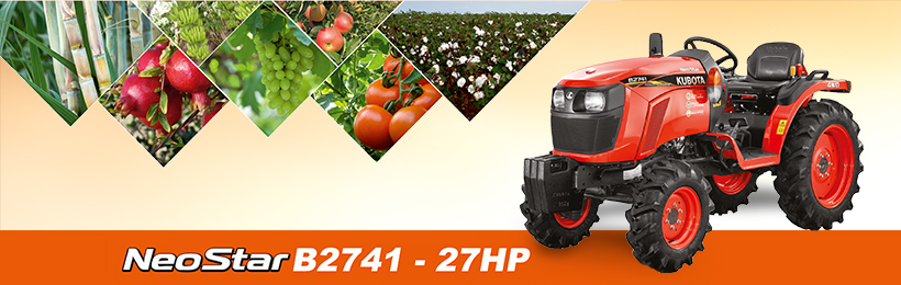 Kubota NeoStar B2741 tractor price specifications 27 HP NeoStar B2741 tractor